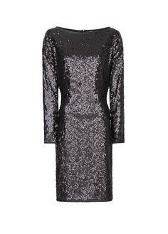 Elegant and sexy sequin dress  MANGO - Wcięta sukienka z cekinami