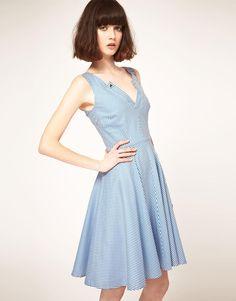 Nishe | Nishe Stripe Prom Dress with Full Skirt at ASOS