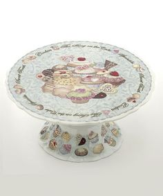 Take a look at this Cupcakes & Cookies Cake Stand by Cardew Design on #zulily today!