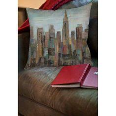 Thumbprintz Cityscape at Dawn Indoor Pillow, Multicolor