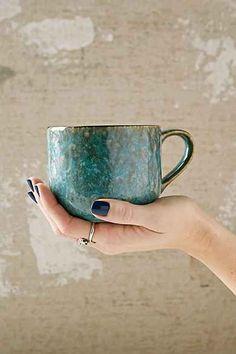 in teal!! Reactive Glaze Mug ($8)