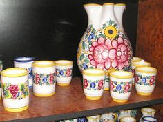 Buy Slovakia Ceramics handcrafted Pottery Modra Gift Souvenir Shop Slovak folk majolica painted Plates, Ceramics, Mugs, Folk, Gifts, Souvenir, Licence Plates, Dishes, Griddles