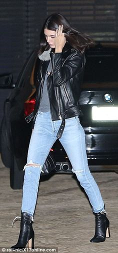 Dinner date: Caitlyn Jenner was seen taking her two daughters Kendall and Kylie for a late night meal at Nobu in Malibu
