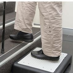 Get a leg up on tricky steps with this clever Outdoor Step. This non-slip outdoor half step cuts the rise and allows you to step up and down safely. #step #halfstep #mobility #stairs #agedcare #steps