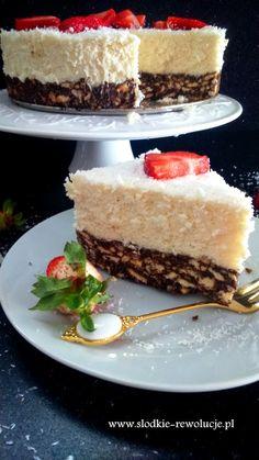 SŁODKIE REWOLUCJE: Kokosowy Puch (bez pieczenia) Cheesecake, How To Eat Paleo, Cake Cookies, Vanilla Cake, Sweet Tooth, Sweet Treats, Food And Drink, Yummy Food, Sweets