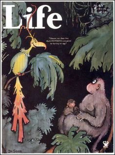 "Life, May 1934    Artist: Dr. Seuss  Theodor Geisel began his career as a prolific illustrator under his own name, but began adopting his more well-known name ""Dr. Seuss"" as he wanted to start marketing himself as a children's book illustrator"