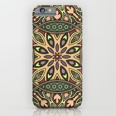 Colorful abstract ethnic floral mandala pattern design iPhone & iPod Case