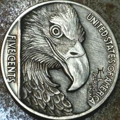 Coin Design, Design Art, Custom Coins, Hobo Nickel, Coin Art, Large Paper Flowers, Antique Coins, Metal Engraving, Silver Coins