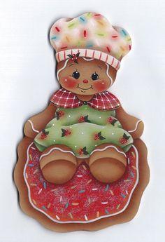 Christmas Cookie Baker Gingerbread Painting par GingerbreadCuties