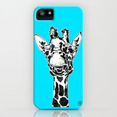 Teal giraffe phone case. My two loves!