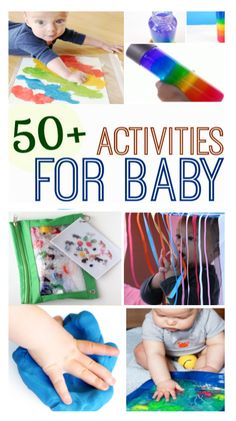 What can baby do? Here are fun activities perfect for babies & toddlers- sensory play, taste safe recipes, and more! activities Sensory Play for Babies Infant Sensory Activities, Baby Sensory Play, Sensory Games, Toddler Learning Activities, Color Activities, Baby Play, Baby Art Activities, Learning Games, Kids Learning