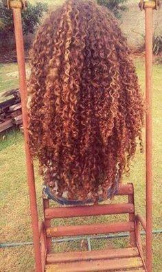 20.Long Natural peinado rizado