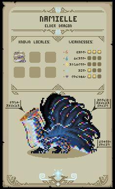 (Mobile Wallpaper) PHW: Namielle by EarthmasterIndustry on DeviantArt Monster Hunter 3rd, Monster Hunter Series, Cry Anime, Dragon Sketch, Pixel Art Games, Dnd Monsters, Monster Cards, Girls Anime, Attack On Titan Art