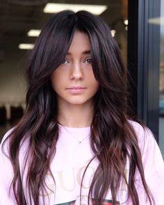 Bangs With Medium Hair, Curly Hair With Bangs, Hairstyles With Bangs, Medium Hair Styles, Curly Hair Styles, Haircuts For Long Hair With Bangs, Shaggy Long Hair, Oval Face Haircuts, Long Face Shapes