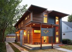 urban green - modern - exterior - minneapolis - by SALA Architects - Modern house numbers Design Exterior, Modern Exterior, Energy Efficient Homes, Energy Efficiency, Eco Friendly House, Architectural Features, House Numbers, Foyers, Modern House Design