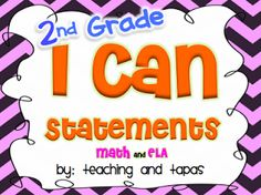 """Grade Common Core """"I Can"""" Statements in kid friendly language Student Teaching, Teaching Kids, Student Self Assessment, Core I, I Can Statements, Math For Kids, Book Recommendations, Teacher Resources"""