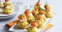 Turn muffins into gourmet treats by pairing them with smoked salmon and cream.
