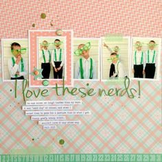 Love Layout for Boy Photos - Chickaniddy Crafts by Tessa Buys