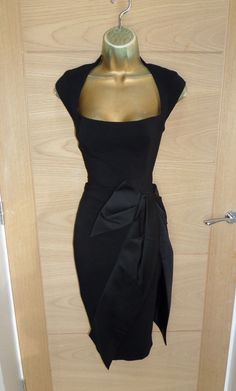 7ba6f275b7 Karen Millen dress in a size UK 12 (US EU Perfect for the up and coming  party season! Made from a high quality black tailored fabric with large  satin bow to ...