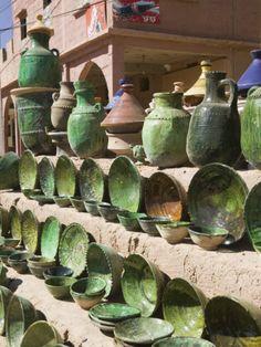 Pottery for Sale, Amazrou, Draa Valley, Morocco, near Marrakech Moroccan Design, Moroccan Decor, Moroccan Style, Sugar Scrub Diy, Terracota, Le Far West, Ceramic Pottery, Pottery Pots, Glazed Pottery