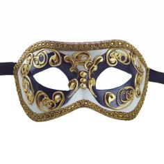Amazon.com: Luxury Mask High Quality Assorted Venetian Party Multicolored Mask, Black/Gold, One Size: Clothing