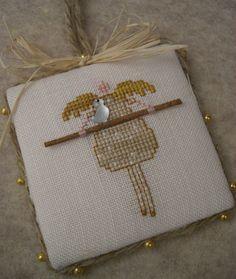 Cross Stitch Ornament Angel and Bird от SnowBerryNeedleArts