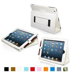 Amazon.com: Snugg iPad 4 & iPad 3 Case - Leather Case Cover and Flip Stand with Elastic Hand Strap and Premium Nubuck Fibre Interior (Black) - Automatically Wakes and Puts the iPad 4 & 3 to Sleep.: Computers & Accessories