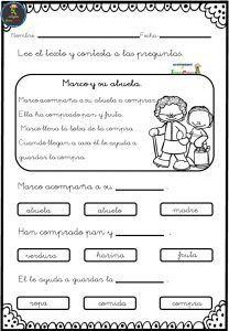 Aquí os dejo fichas sencillas para trabajar la comprensión lectora en primer ciclo de primaria. Al igual que aprendemos a leer de pequeños, deberíamos aprender del mismo modo a comprender lo que se lee.... Book Girl, Worksheets, Acting, Bullet Journal, Classroom, How To Plan, Education, Reading, Books