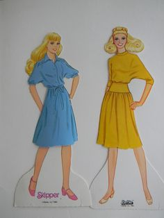 Paper dolls in the 80s