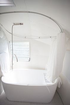 Airstream bathtub - if this was in your caravan, surely you would never want to go home?!