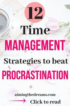 to and be productive. // Aiming the Dreams Time management strategies are crucial for beating procrastination. Being productive also means accomplishing more in less time. Time Management Tools, Time Management Strategies, How To Stop Procrastinating, Self Development, Personal Development, Getting Things Done, Business Tips, Business School, Stress