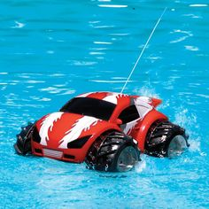 A remote control car that drives on water?!  Jules would love this!