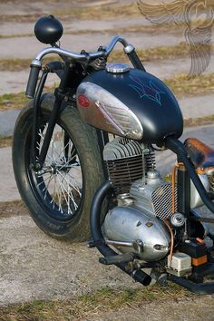 1963 jawa single two-stroke bobber