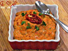 Sun-dried Tomato, Garlic Dip – Low-carb, Paleo, Gluten-Free via @PeaceLoveLoCarb