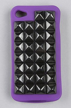 $40 The Gypsy Warrior Studded iPhone Case in Purple and Black Studs by *Accessories Boutique on #karmaloop - Use repcode SMARTCANUCKS for 20% off - http://www.lovekarmaloop.com