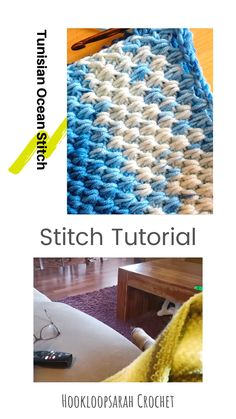 Tunisian Ocean Stitch video tutorial Learn the impressive yet challenging Tunisian Ocean stitch with my easy video tutorial! Crochet Baby, Free Crochet, Double Crochet, Knit Crochet, Learn To Crochet, Tunisian Crochet Patterns, Tunisian Crochet Blanket, Afghan Stitch, Crochet Instructions