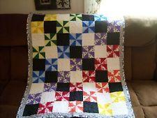 "Handmade baby quilt / blanket  38"" x 48"" pinwheels pattern,  special gift"