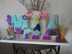 Mermaid Names, Name Decorations, Cake, Ideas, Kuchen, Thoughts, Torte, Cookies, Cheeseburger Paradise Pie