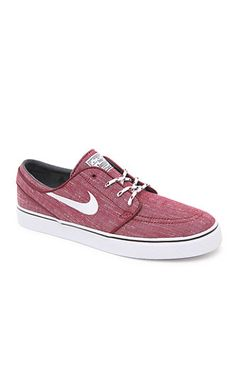 Stefan Janoski Canvas Red & White Shoes