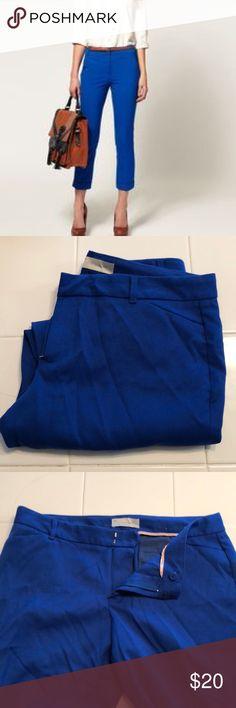 Gap slim cropped pants cobalt blue size 10 stretch Almost new Gap slim cropped pants cobalt blue size 10 stretch GAP Pants Ankle & Cropped