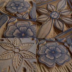 The Printing Press  Think I might do some more woodcuts of flowers soon and try printing on fabric.
