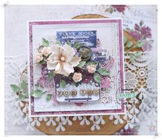 Prima Marketing Darcelle paper collection, foamiran flower created with Lady E Design die - Flower 001
