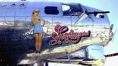 A B-17 bomber used in WWII named Sentimental Journey. Photo by Chandra Nyleen