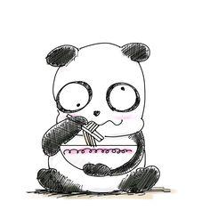 【一日一大熊猫】2017.12.4 藤子不二雄の漫画に出てくる小池さんは アニメーション作家の鈴木伸一がモデルらしいから ラーメン好きな人は絶対に覚えておかなくちゃ。 #パンダ #小池さん #ラーメン
