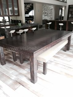 omg! i want this! pool table/dining room table combo. | for the