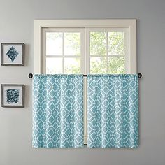 Madison Park Delray Printed Diamond Window Curtain Tier Pair