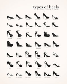Types-of-Heels-BlackWhite-EverAndWright-2.png  | High heels
