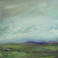 purple horizon, painting by artist Parastoo Ganjei