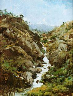 Ovidio Murguía - Regato entre pedras; 1897.