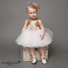 """Princess Skylar Dress styled with our Paris 11 shoes and matching headpiece  Shop: ittybittytoes.com (search """"Skylar"""")"""